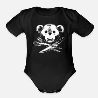 Teddy Dangerous - Organic Short-Sleeved Baby Bodysuit