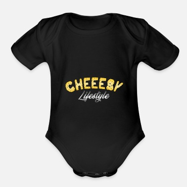 Tasty Cheeesy Lifestyle - Cheese - Organic Short Sleeve Baby Bodysuit