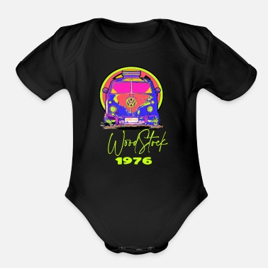 woodstock 1976 T-SHIRT COLLECTOR - Organic Short-Sleeved Baby Bodysuit