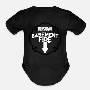 Volunteer Fire Department Fire Department Logo 2 - Organic Short Sleeve Baby Bodysuit