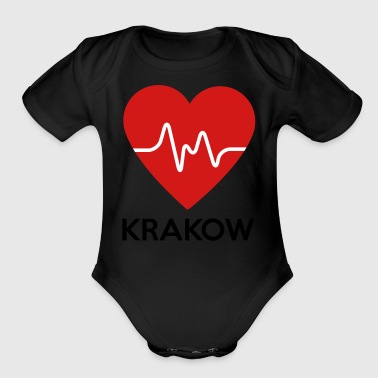 Heart Krakow - Short Sleeve Baby Bodysuit