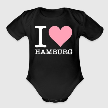 I Love Hamburg - Short Sleeve Baby Bodysuit