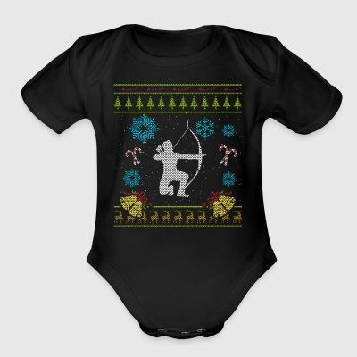 Archer Christmas Sweater Archery Shirt Hunting Shirt - Short Sleeve Baby Bodysuit