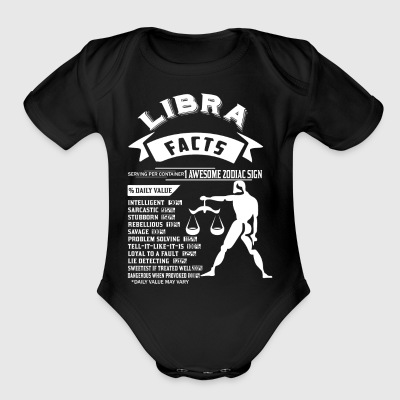 LIBRA FACTS - Short Sleeve Baby Bodysuit