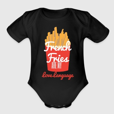 French Fries are my Love Language - Short Sleeve Baby Bodysuit