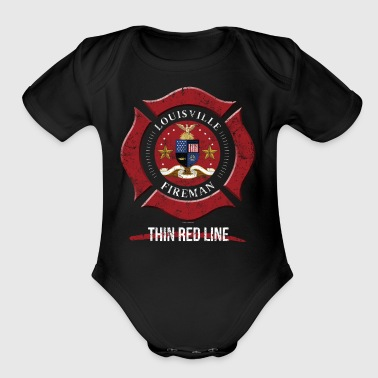 Louisville Firefighter Shirt Firefighter Gifts Kentucky Shirt - Short Sleeve Baby Bodysuit