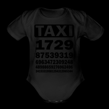 Taxicab numbers - Short Sleeve Baby Bodysuit