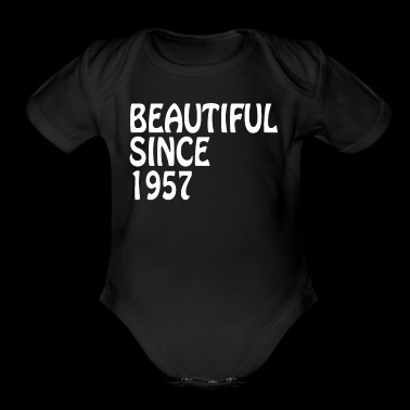 Beautiful Since 1957 Birthday Gifts For Women Shirt - Short Sleeve Baby Bodysuit