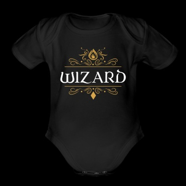 Wizard Dragons in Dungeons Tabletop RPG - Short Sleeve Baby Bodysuit