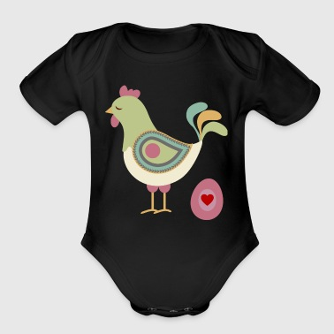chicken - Short Sleeve Baby Bodysuit