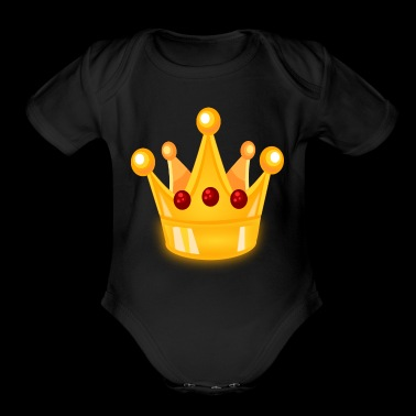 crown - Short Sleeve Baby Bodysuit
