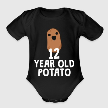 12 Year Old Potato Funny Food Joke Birthday Gift - Organic Short Sleeve Baby Bodysuit