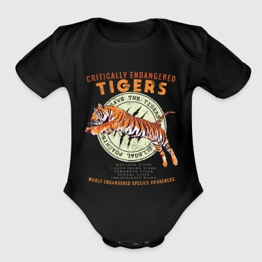 Save the Tigers - Endangered Species Awareness - Organic Short Sleeve Baby Bodysuit