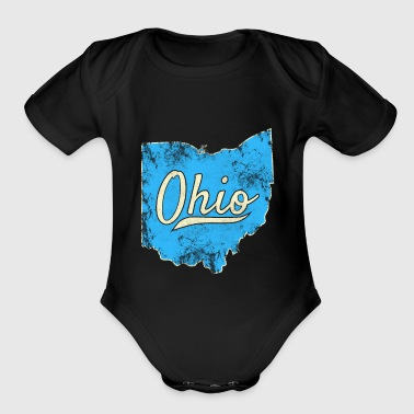 Ohio Gift I Love My Ohio Home Cleveland Cincinnati - Organic Short Sleeve Baby Bodysuit