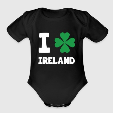 Awesome I (Shamrock Graphic) Ireland T-Shirt - Organic Short Sleeve Baby Bodysuit