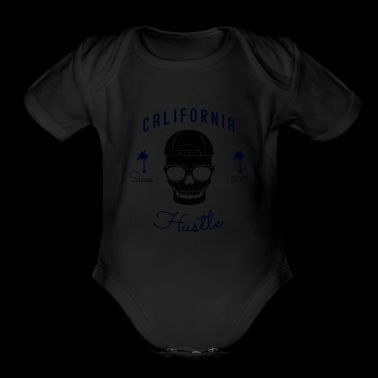 Stay Humble Hustle Hard Motivated California - Organic Short Sleeve Baby Bodysuit