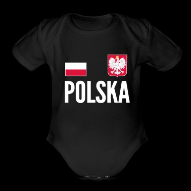 Poland Soccer Jersey World Football Cup Design - Organic Short Sleeve Baby Bodysuit