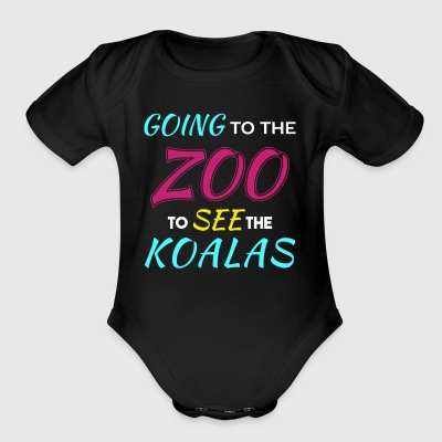 Going to the Zoo to See the Koalas - Short Sleeve Baby Bodysuit