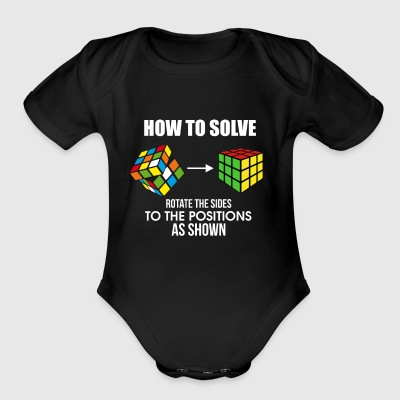 How To Solve Puzzle Cube - Funny Cubing - Short Sleeve Baby Bodysuit