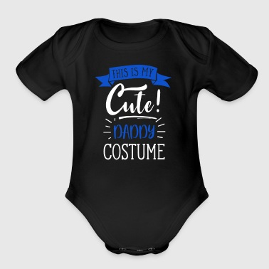Easy Halloween Costume For Adults - Cute Daddy - Short Sleeve Baby Bodysuit