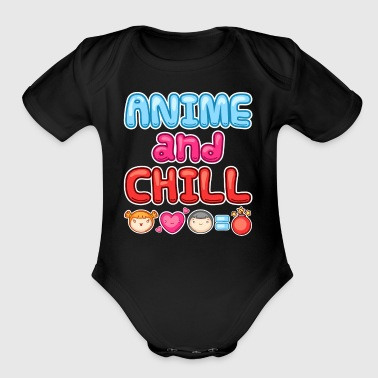Anime And Chill - Short Sleeve Baby Bodysuit
