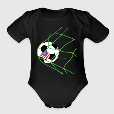 Soccer Player Gate Vintage USA Gift - Short Sleeve Baby Bodysuit