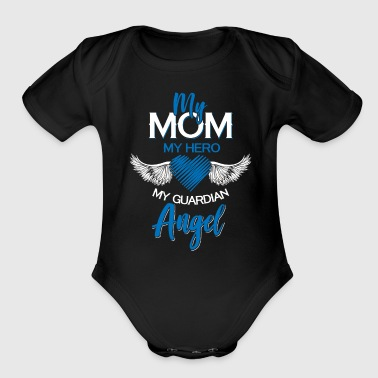 My mom guardian angel gift love kids thankful - Short Sleeve Baby Bodysuit