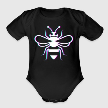 Glitch Bee Keeper Icon - Short Sleeve Baby Bodysuit