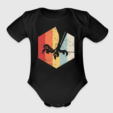 Retro 70s Birding Icon | Bird Watching - Short Sleeve Baby Bodysuit