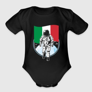Astronaut moon Italy flag moonlanding - Short Sleeve Baby Bodysuit