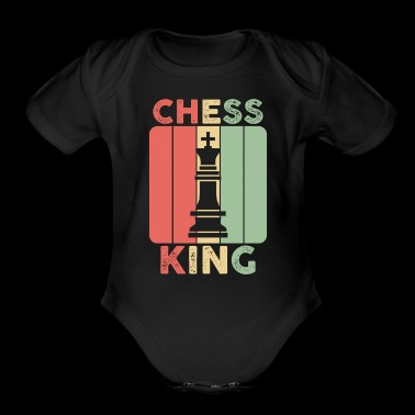 chess king gift love playing board fields hobby - Short Sleeve Baby Bodysuit