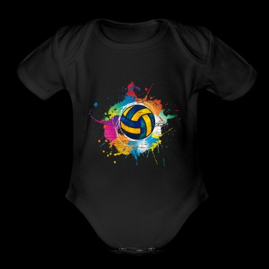 Volleyball color explosion - Short Sleeve Baby Bodysuit