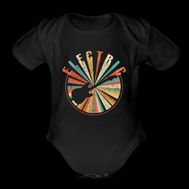 ELECTRIC GUITAR - Vintage Retro Guitaris Gift - Short Sleeve Baby Bodysuit