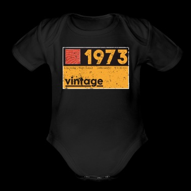 Musical Producer 1973 Vintage Cassette Birthday Shirt - Short Sleeve Baby Bodysuit