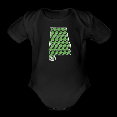 Real Shamrock Alabama St Pattys Shirt Women - Short Sleeve Baby Bodysuit
