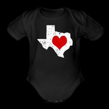 Valentines Day Texas Cute Valentines Day Gift Hearts Shirt - Short Sleeve Baby Bodysuit