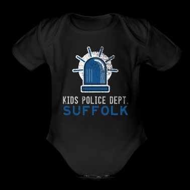 Future Police Officer Police Kids Suffolk Shirt - Short Sleeve Baby Bodysuit
