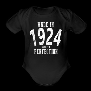 Made In 1924 Happy Birthday Shirt - Short Sleeve Baby Bodysuit