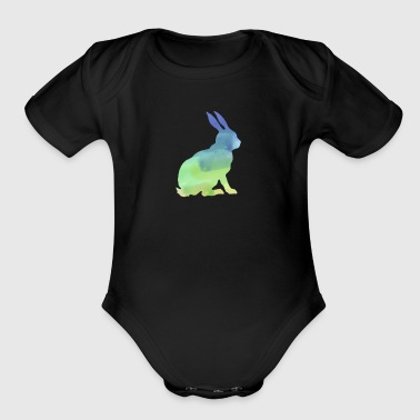 Florida White Rabbits Watercolor T Shirt Water Color Shirt - Short Sleeve Baby Bodysuit