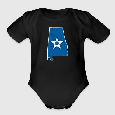 Alabama Security Forces Air Force Shirts For Girls - Organic Short Sleeve Baby Bodysuit