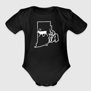 North American Big Game Rhode Island Caribou Hunting - Organic Short Sleeve Baby Bodysuit