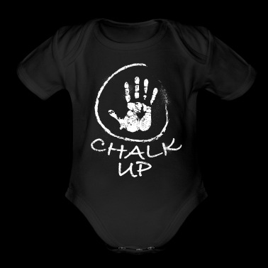 Chalk Up Handprint Gymnast Gymnastics - Organic Short Sleeve Baby Bodysuit
