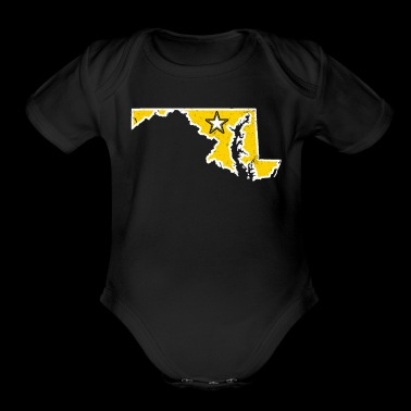 Maryland Army T Shirt Proud Army Dad Proud Army Mom Shirt - Organic Short Sleeve Baby Bodysuit