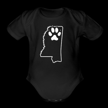 Rescued Dog Mississippi Live Love And Rescue Dogs - Organic Short Sleeve Baby Bodysuit