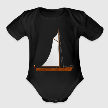 sailboat segelboot sailing segeln schiff ship sail - Short Sleeve Baby Bodysuit