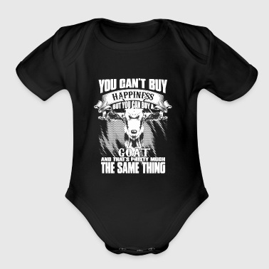 YOU CAN'T BUY HAPPINESS BUT YOU CAN BUY GOAT - Short Sleeve Baby Bodysuit