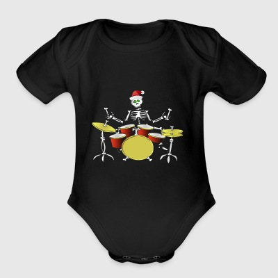 Christmas Gift for Drummer T Shirt - Short Sleeve Baby Bodysuit