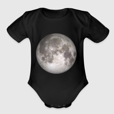 moon astronaut starlight galaxy heaven earth gift - Short Sleeve Baby Bodysuit