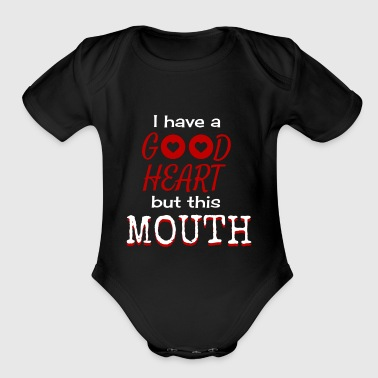this mouth - Short Sleeve Baby Bodysuit