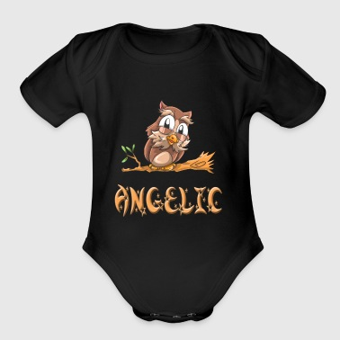 Angelic Owl - Short Sleeve Baby Bodysuit